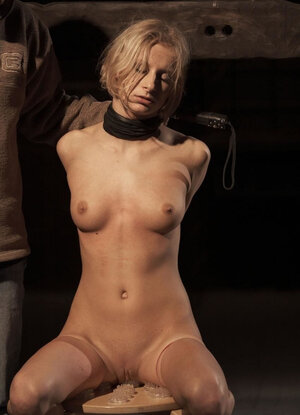 Pervert fulfills BDSM fantasies of delectable babe Paris Pink from Germany