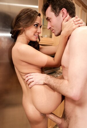 Excited lovers meet in kitchen to have there passionate sex in hot poses